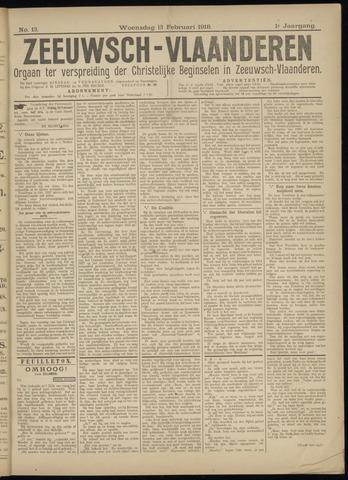 Luctor et Emergo. Antirevolutionair nieuws- en advertentieblad voor Zeeland / Zeeuwsch-Vlaanderen. Orgaan ter verspreiding van de christelijke beginselen in Zeeuwsch-Vlaanderen 1918-02-13