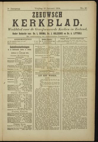 Zeeuwsche kerkbode, weekblad gewijd aan de belangen der gereformeerde kerken/ Zeeuwsch kerkblad 1904-01-15