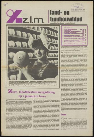 Zeeuwsch landbouwblad ... ZLM land- en tuinbouwblad 1978