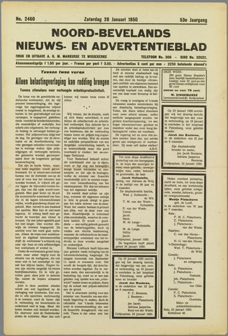 Noord-Bevelands Nieuws- en advertentieblad 1950-01-28