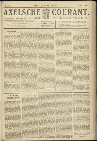 Axelsche Courant 1926-07-27