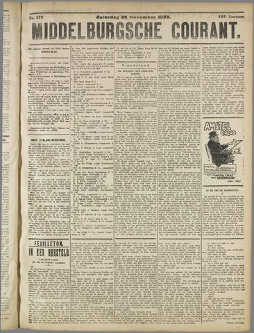 Middelburgsche Courant 1922-11-25