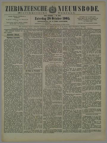 Zierikzeesche Nieuwsbode 1905-10-28