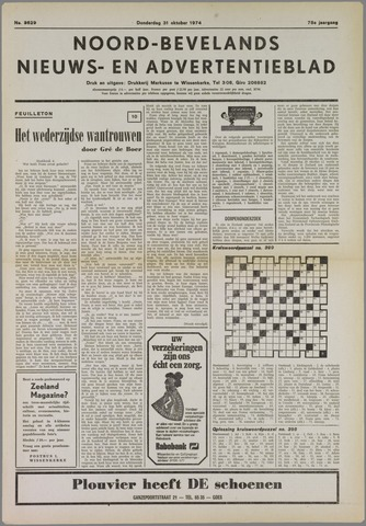 Noord-Bevelands Nieuws- en advertentieblad 1974-10-31