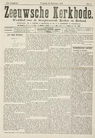 Zeeuwsche kerkbode, weekblad gewijd aan de belangen der gereformeerde kerken/ Zeeuwsch kerkblad 1917-02-23