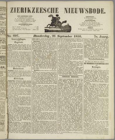 Zierikzeesche Nieuwsbode 1850-09-26