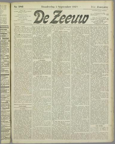 De Zeeuw. Christelijk-historisch nieuwsblad voor Zeeland 1920-09-02