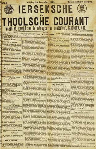 Ierseksche en Thoolsche Courant 1914-12-25