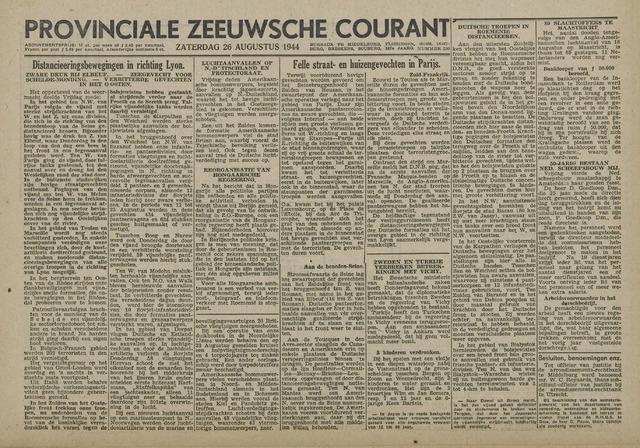 Provinciale Zeeuwse Courant 1944-08-26
