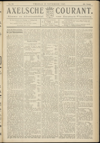 Axelsche Courant 1927-11-18