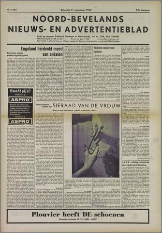 Noord-Bevelands Nieuws- en advertentieblad 1965-09-11