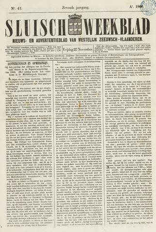Sluisch Weekblad. Nieuws- en advertentieblad voor Westelijk Zeeuwsch-Vlaanderen 1866-11-23