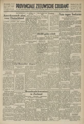 Provinciale Zeeuwse Courant 1947-01-20