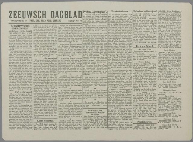 Zeeuwsch Dagblad 1945-06-01