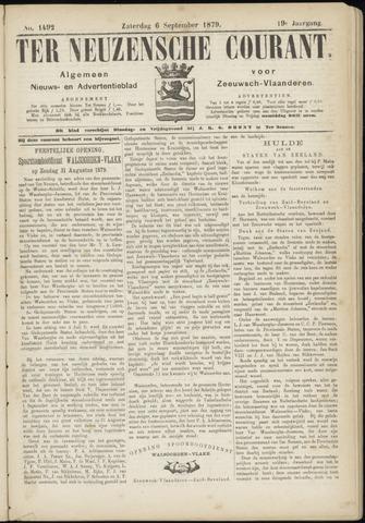 Ter Neuzensche Courant. Algemeen Nieuws- en Advertentieblad voor Zeeuwsch-Vlaanderen / Neuzensche Courant ... (idem) / (Algemeen) nieuws en advertentieblad voor Zeeuwsch-Vlaanderen 1879-09-06