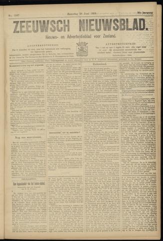 Ter Neuzensch Volksblad. Vrijzinnig nieuws- en advertentieblad voor Zeeuwsch- Vlaanderen / Zeeuwsch Nieuwsblad. Nieuws- en advertentieblad voor Zeeland 1919-06-28