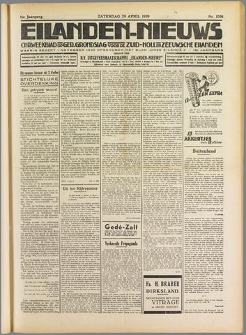 Eilanden-nieuws. Christelijk streekblad op gereformeerde grondslag 1939-04-29