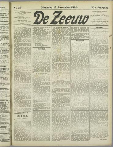 De Zeeuw. Christelijk-historisch nieuwsblad voor Zeeland 1920-11-15