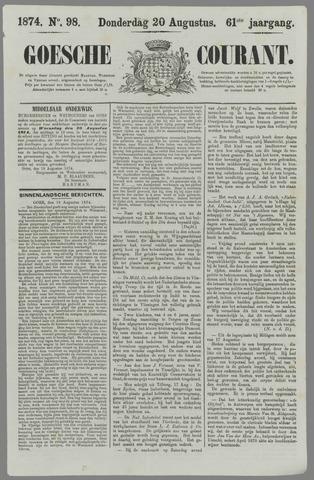 Goessche Courant 1874-08-20