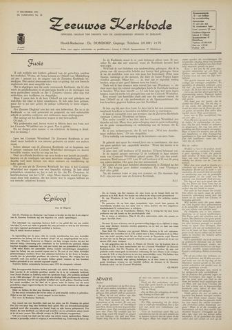 Zeeuwsche kerkbode, weekblad gewijd aan de belangen der gereformeerde kerken/ Zeeuwsch kerkblad 1970-12-17