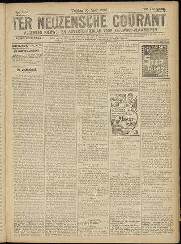 Ter Neuzensche Courant. Algemeen Nieuws- en Advertentieblad voor Zeeuwsch-Vlaanderen / Neuzensche Courant ... (idem) / (Algemeen) nieuws en advertentieblad voor Zeeuwsch-Vlaanderen 1926-04-30