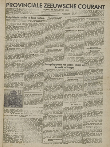 Provinciale Zeeuwse Courant 1944-08-11