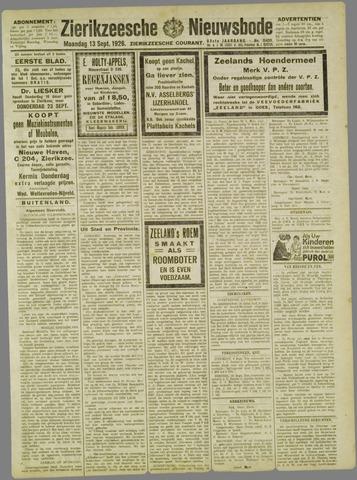 Zierikzeesche Nieuwsbode 1926-09-13