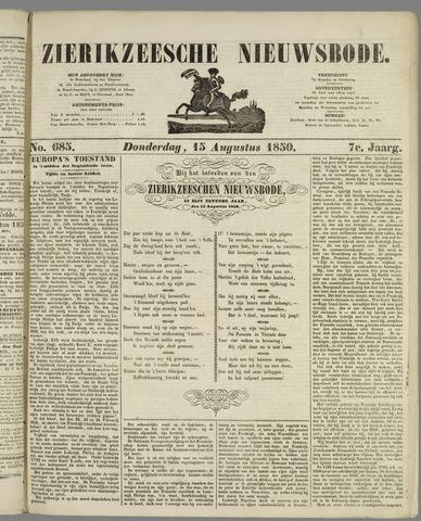 Zierikzeesche Nieuwsbode 1850-08-15