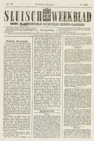 Sluisch Weekblad. Nieuws- en advertentieblad voor Westelijk Zeeuwsch-Vlaanderen 1873-05-13