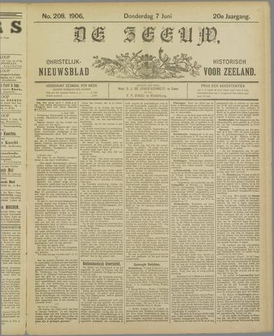 De Zeeuw. Christelijk-historisch nieuwsblad voor Zeeland 1906-06-07