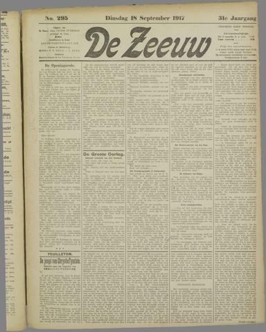 De Zeeuw. Christelijk-historisch nieuwsblad voor Zeeland 1917-09-18
