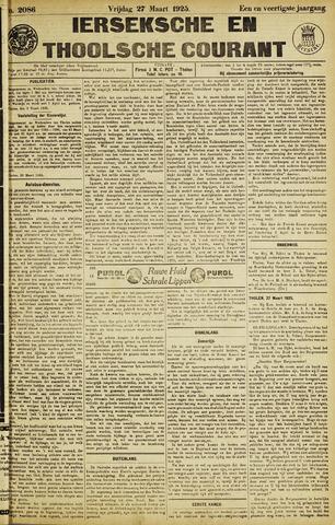 Ierseksche en Thoolsche Courant 1925-03-27