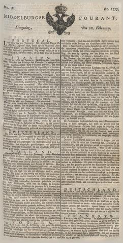 Middelburgsche Courant 1777-02-11