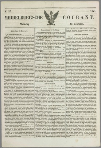 Middelburgsche Courant 1871-02-13