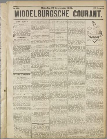 Middelburgsche Courant 1922-09-25