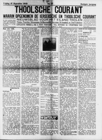 Ierseksche en Thoolsche Courant 1943-09-17