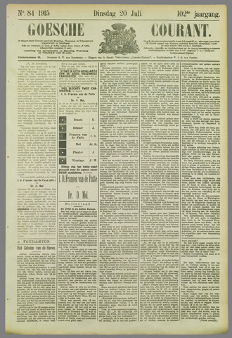 Goessche Courant 1915-07-20