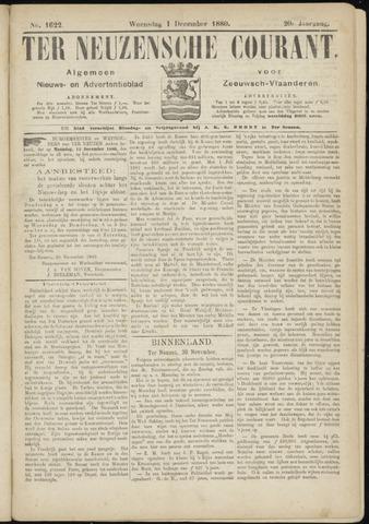 Ter Neuzensche Courant. Algemeen Nieuws- en Advertentieblad voor Zeeuwsch-Vlaanderen / Neuzensche Courant ... (idem) / (Algemeen) nieuws en advertentieblad voor Zeeuwsch-Vlaanderen 1880-12-01