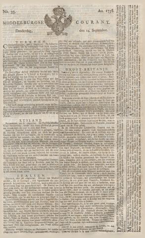 Middelburgsche Courant 1758-09-14