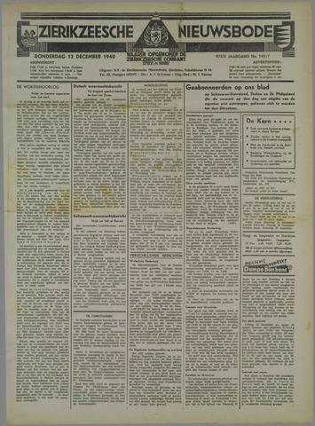 Zierikzeesche Nieuwsbode 1940-12-12