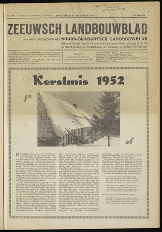 Zeeuwsch landbouwblad ... ZLM land- en tuinbouwblad 1952-12-24