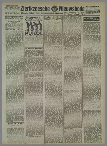 Zierikzeesche Nieuwsbode 1932-02-15