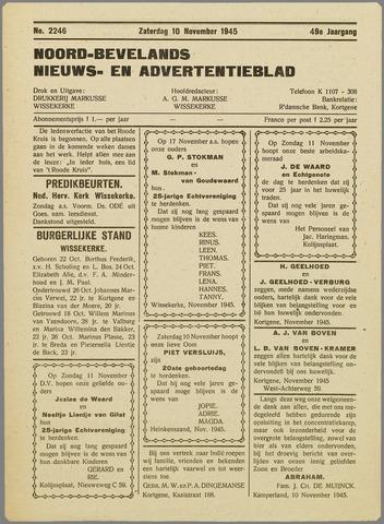 Noord-Bevelands Nieuws- en advertentieblad 1945-11-10