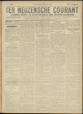 Ter Neuzensche Courant. Algemeen Nieuws- en Advertentieblad voor Zeeuwsch-Vlaanderen / Neuzensche Courant ... (idem) / (Algemeen) nieuws en advertentieblad voor Zeeuwsch-Vlaanderen 1927-03-02
