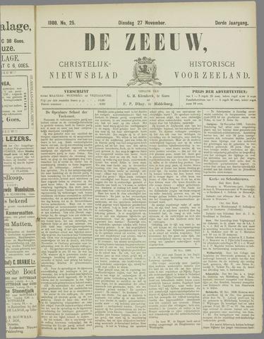 De Zeeuw. Christelijk-historisch nieuwsblad voor Zeeland 1888-11-27