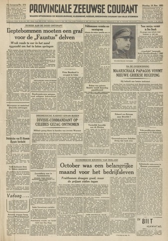 Provinciale Zeeuwse Courant 1952-11-18