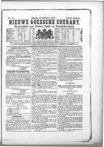 Nieuwe Goessche Courant 1874-09-22