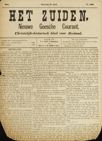 Het Zuiden, Christelijk-historisch blad 1885-04-25
