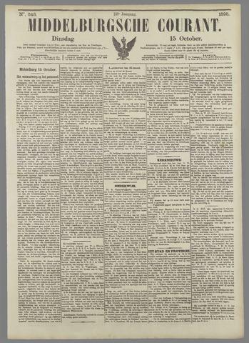 Middelburgsche Courant 1895-10-15