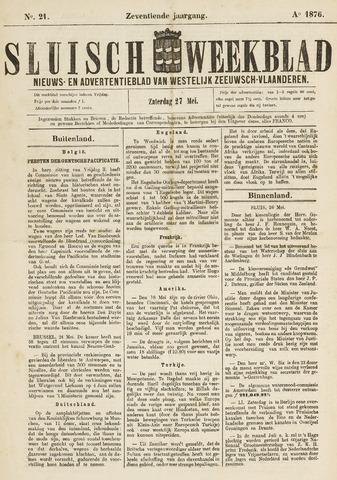 Sluisch Weekblad. Nieuws- en advertentieblad voor Westelijk Zeeuwsch-Vlaanderen 1876-05-26